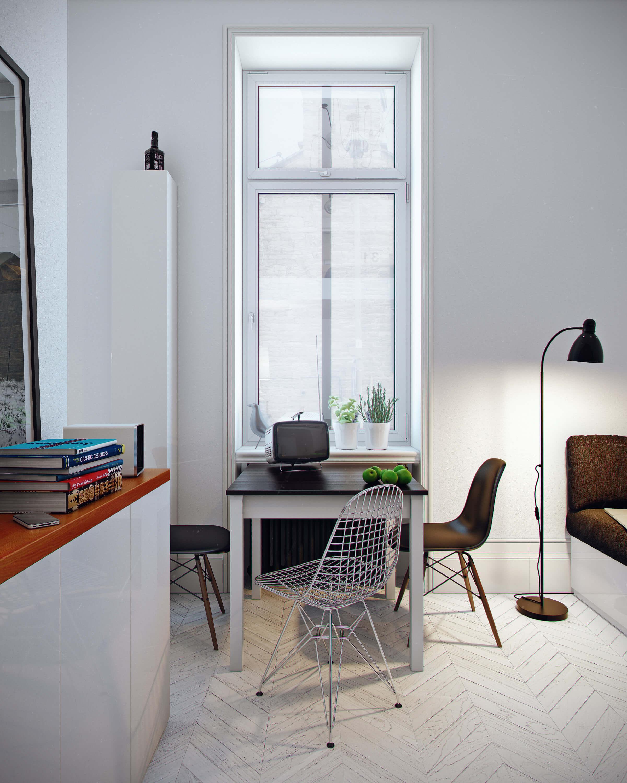Квартира студия в стиле Loft