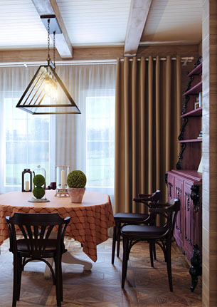 Дом романтика в стиле охотничий китч
