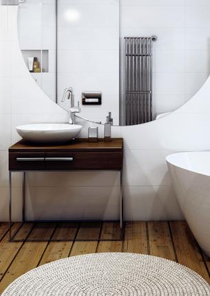 Ванная комната с круглым окном
