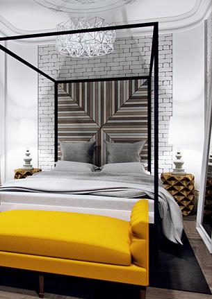 Спальня в стиле лофт Харьков (White)