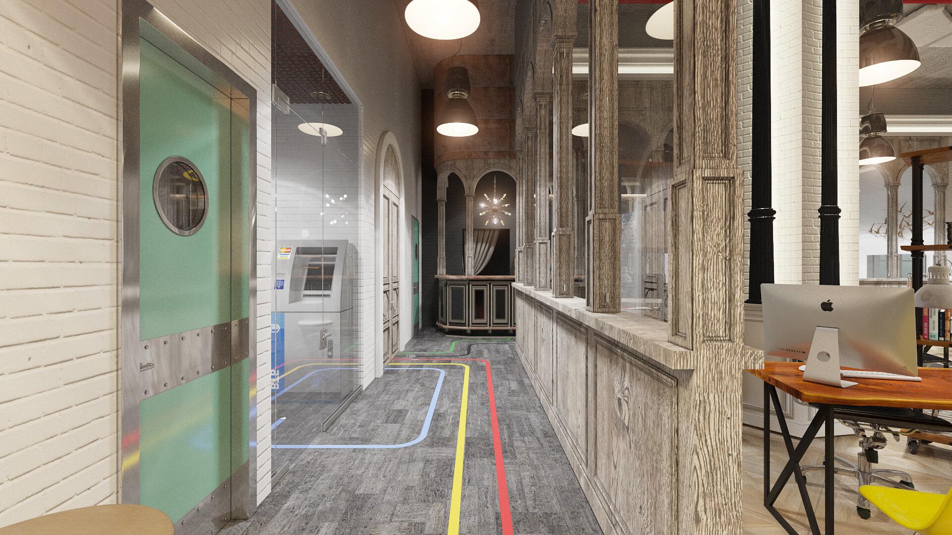 Система коридоров строй. компании г. Москва стиль Loft (лофт)