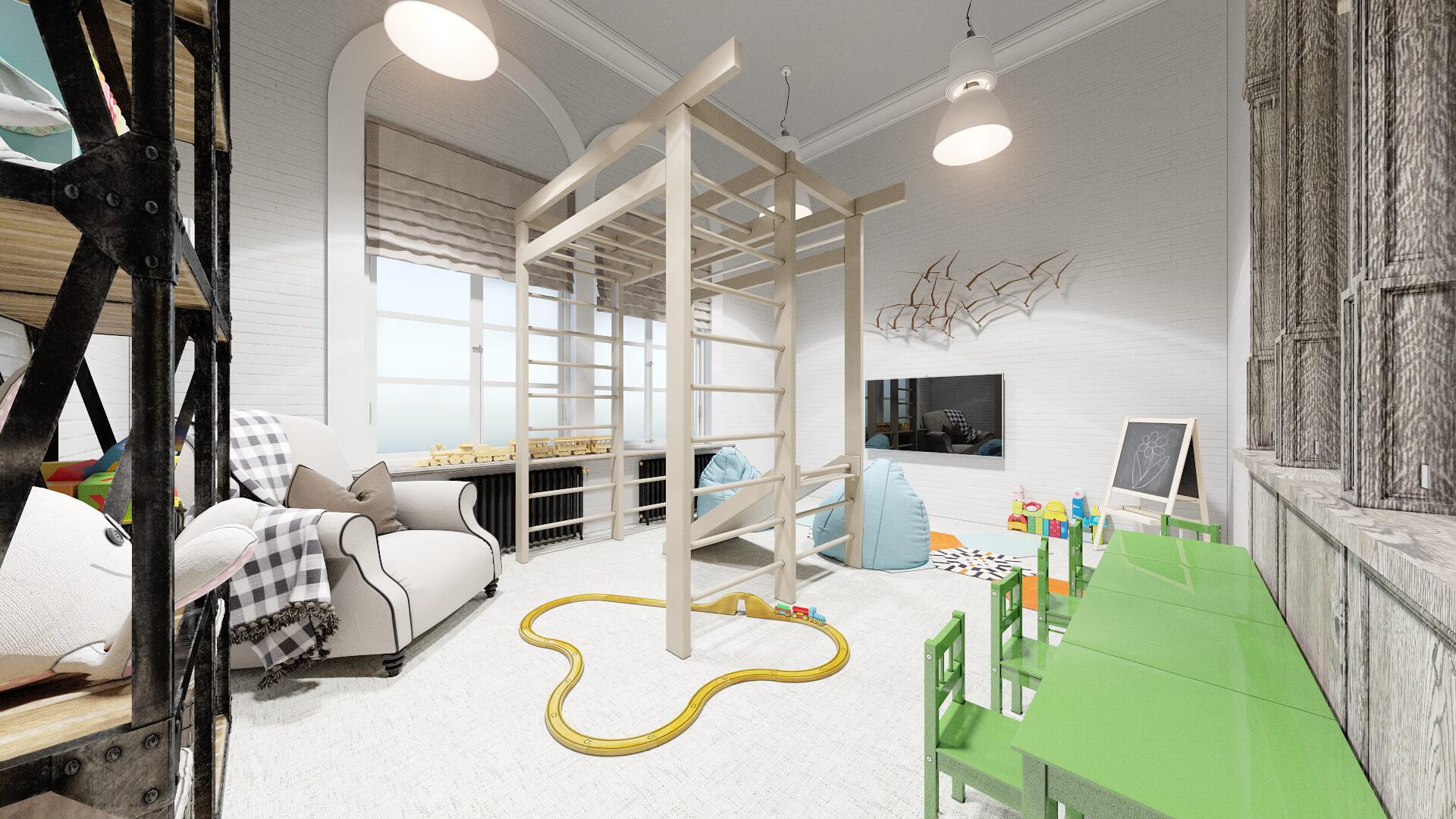 Комната для детей строй. компании г. Москва стиль Loft (лофт)