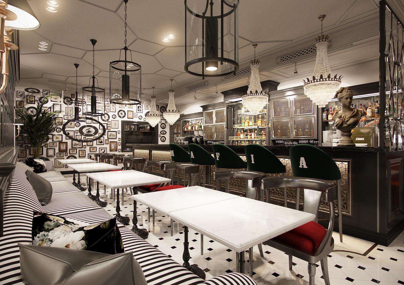 Бар ресторана Mafia г. Киев