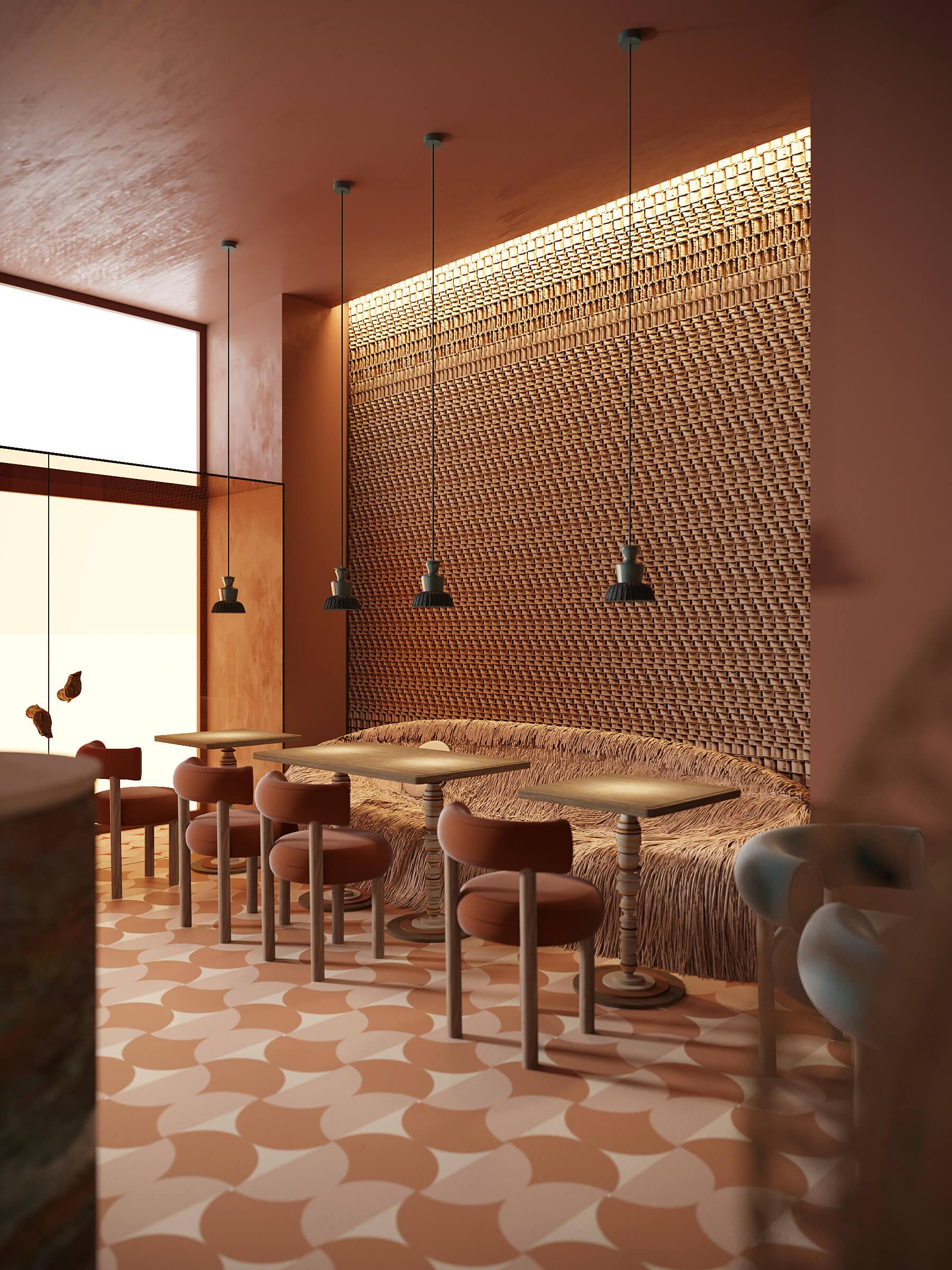 Ресторан Мама Индия основной зал зал г. Киев